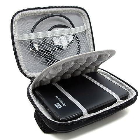Co2Crea Hard EVA Shockproof Carrying Case Pouch Bag for Western Digital, Ultra Slim Essential Elements, Canvio, Samsung M3 Slimline, Passport - (External Hard Drive Metal Case)