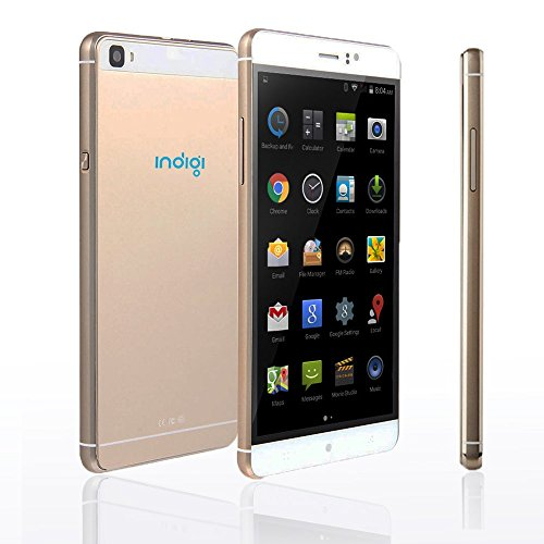 New 2016 GSM Unlocked Indigi M8 Mobile Device Smart Phone Android 5.1 6 QHD