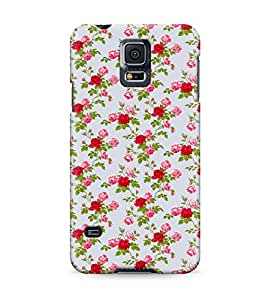 Vintage Red Roses Floral Flowers Pattern Shabby Chic Hard Plastic Snap On Back Case Cover For Samsung Galaxy S5 Carcasa