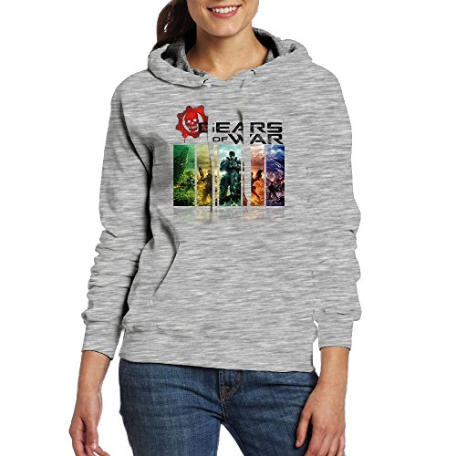 Price comparison product image Avis N Womens Gears Of War Casual Pocket Hoodies Sweater XL Ash