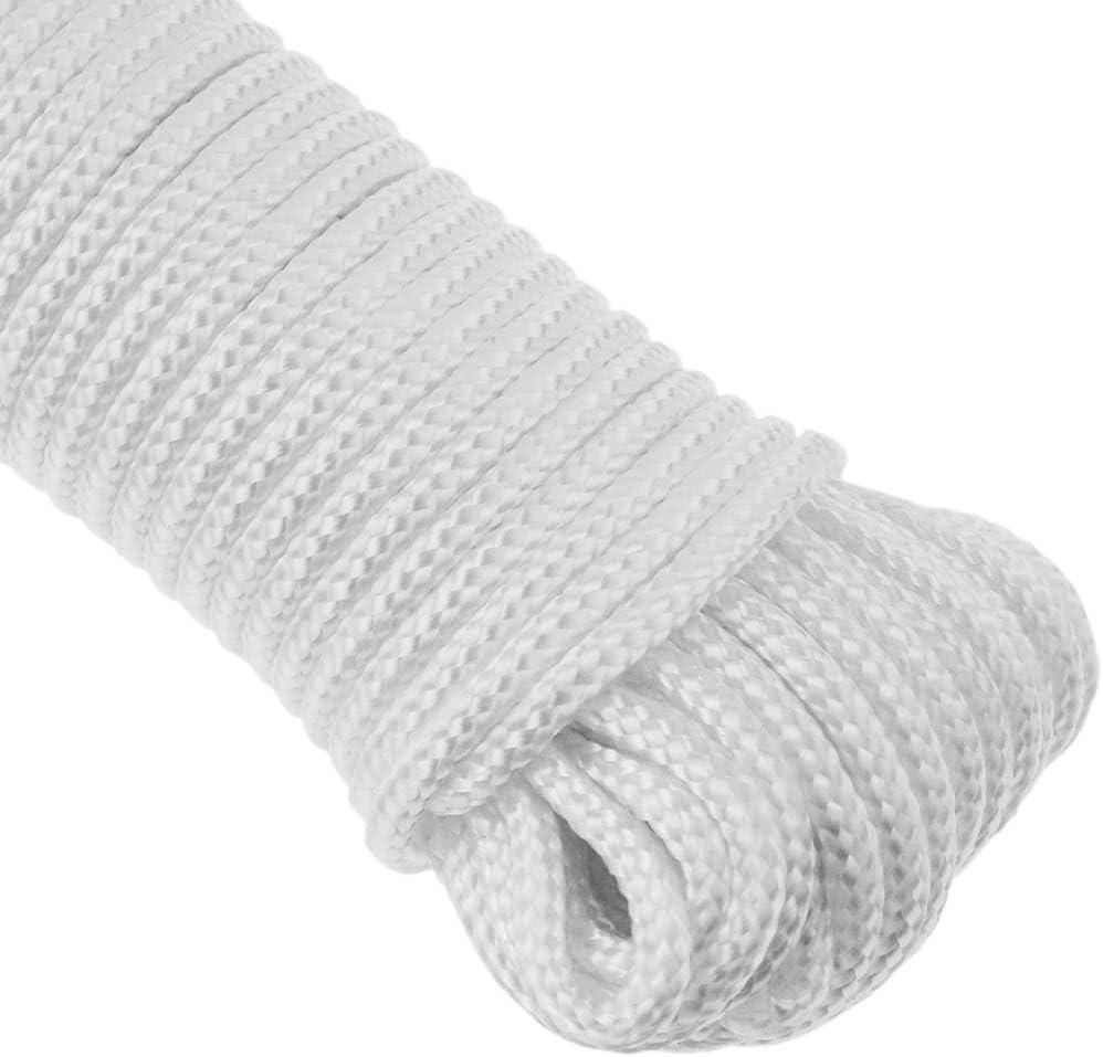 PrimeMatik Cuerda Trenzada de algod/ón 20 m x 4 mm Natural