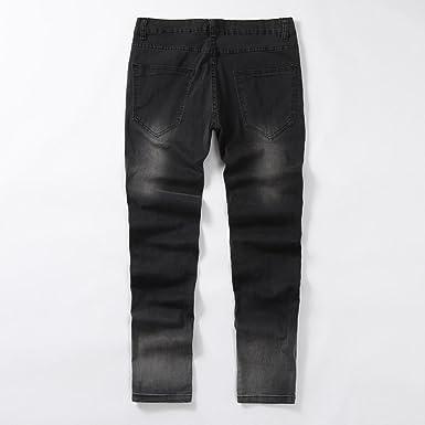 Amazon.com: Pantalones vaqueros para hombre Moto Jeans ...