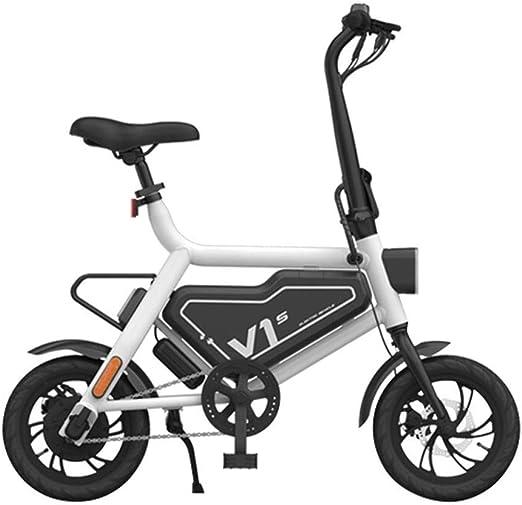 Dpliu-HW Bicicleta Eléctrica Bicicleta eléctrica Plegable Batería ...