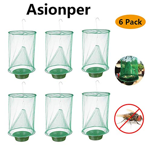 Asionper Ranch Fly Traps Catcher with Food Bait The Most Effective Trap Ever Made Fishing Apparatus Fly Catcher Cage for Indoor or Outdoor for Family Farms, Park, Restaurants