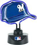 MLB Milwaukee Brewers Official Neon Helmet Lamp, Multicolor, One Size