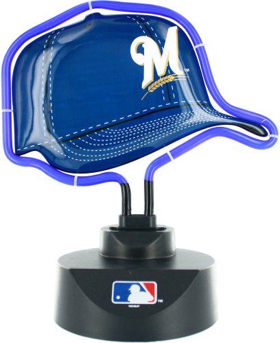 The Memory Company MLB Milwaukee Brewers Official Neon Helmet Lamp, Multicolor, One Size by The Memory Company