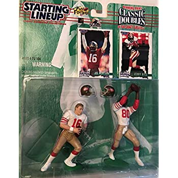1997 Starting Lineup Classic Doubles JOE MONTANA and JERRY RICE