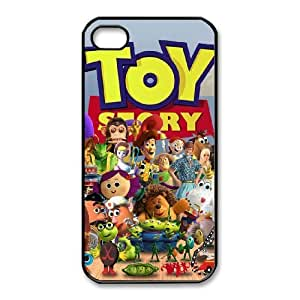 Special Design Case iPhone 4,4S Black Cell Phone Case Hwbjp Toy Story 2 Durable Rubber Cover
