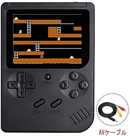 シュミ ミニモバイルバッテリー ポータブルゲーム機 300種ゲームin1 レトロゲーム 3.0インチ (ブラック)