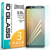 Samsung Galaxy A8 2018 Tempered Glass Screen Protector - Invisible Defender Glass [3-Pack/Case Compatible] Ultimate Clear Shield, High Definition Quality, 9H Hardness Technology for Galaxy A8 2018
