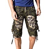 Willsa Men's Pants,WillsaFashion Casual Pocket Beach Work Casual Short Trouser Shorts Pants