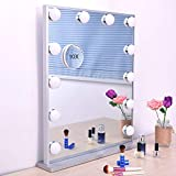 Wonstart Hollywood Lighted Makeup Vanity Mirror Light, Makeup Dressing Table Vanity Set Mirrors with Dimmer, Tabletop or Wall Mounted Vanity, LED Bulbs Included