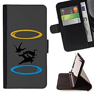 BETTY - FOR LG OPTIMUS L90 - cool funny zero gravity ninja portal - Style PU Leather Case Wallet Flip Stand Flap Closure Cover