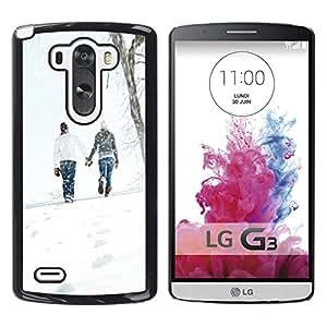 Be Good Phone Accessory // Dura Cáscara cubierta Protectora Caso Carcasa Funda de Protección para LG G3 D855 D850 D851 // Love Winter Couple