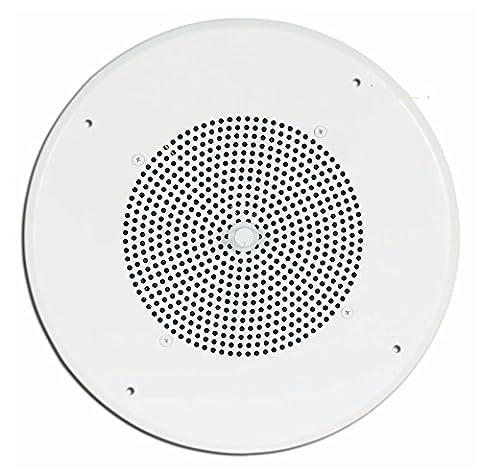 Spkr W/Bright White Grille With Volume Control Knob-2Pack - Bogen Intercom