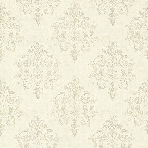 - Chesapeake CTR64132 Arronsburg Linen Damask Wallpaper