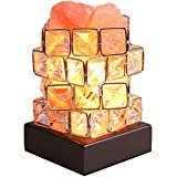 Greenclick Himalayan Salt Lamp Pink Rock Salt Lamps Night Light, Himalayan lonic Natural Salt Crystal Light Lamp with Wooden Base,Dimming Switch & UL-Listed Cord Best Gift Idea