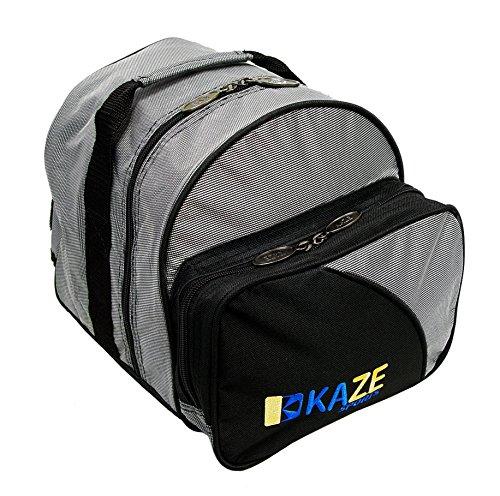 KAZE SPORTS 1 Ball Spare Kit Single Tote Bowling Add On Bag, Gray-Black