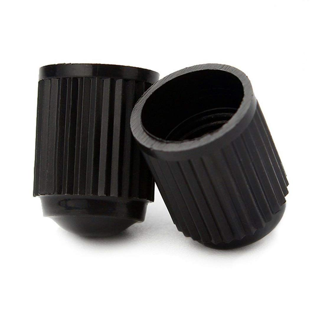 HTBMALL Tyre Valve Caps Plastic Tyre Cap Screw-on Black 36-Pack Universal Stem for Car Auto,SUVs Trucks Bicycle and Bike Motorbike