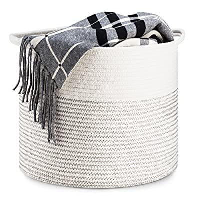 Cotton Rope Collapsible Basket with Handles -  - living-room-decor, living-room, baskets-storage - 51 obwn843L. SS400  -