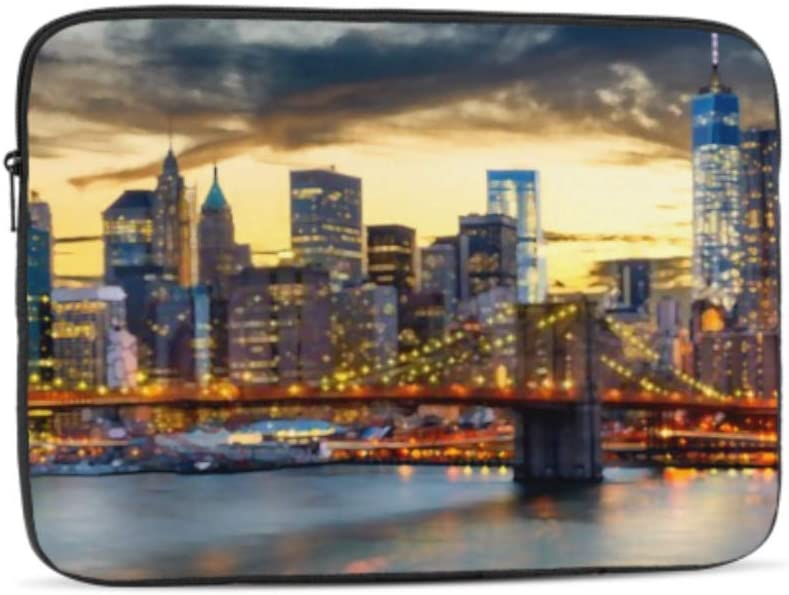 New York USA Downtown Manhattan City Pattern Neoprene Sleeve Pouch Case Bag for 11.6 Inch Laptop Computer Designed to Fit Any Laptop//Notebook//ultrabook//MacBook with Display Size 11.6 Inches