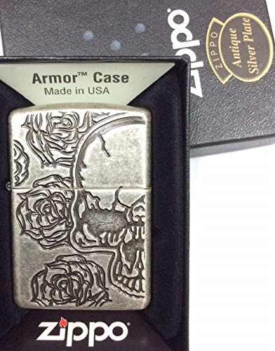 Skull Armor Heavy Zippo Outdoor Indoor Windproof Lighter Free Custom Personalized Engraved Message Permanent Lifetime Engraving on Backside by Zippo