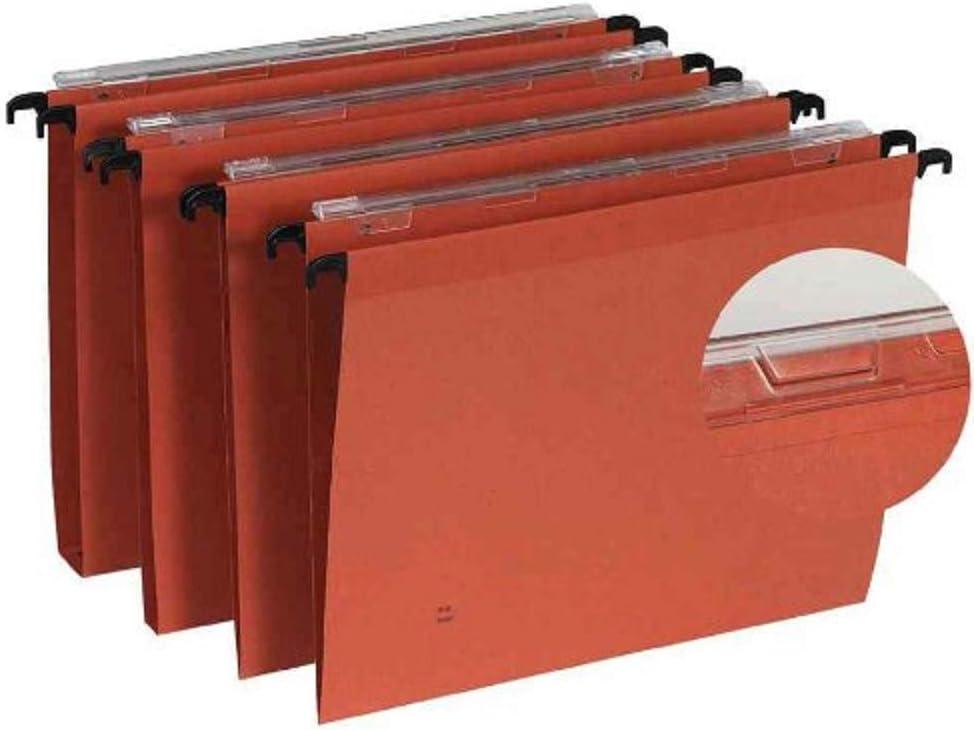 Esselte 25/St/ück H/ängemappen Gori/ /Kraftpapier orange Schublade Boden 30 mm Orange
