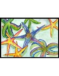 Caroline\'s Treasures Starfish Indoor or Outdoor Doormat, 24\...
