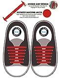 Kicks Kids Red - Tieless Elastic Silicone No Tie