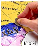 USA Scratch Off Travel Map 17X24 Inch By McScout