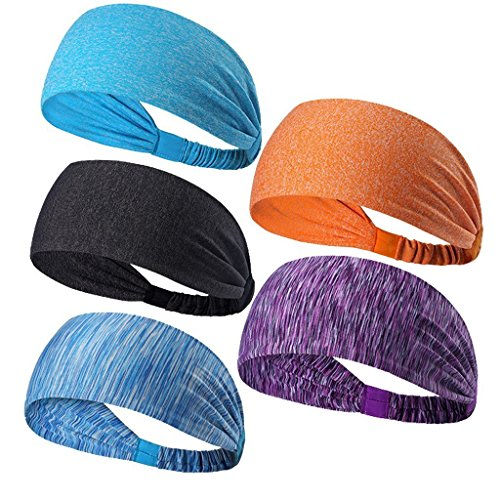 Fitness headband /yoga headband /sports headband / tennis headband /running head with /riding a bicycle headband. With silicone anti-skid absorption sweat headband Unisex. (Striped red and purple)