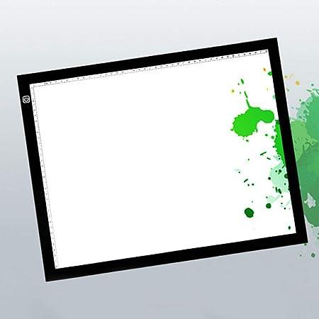 Caja de luz ultrafina A3 con luz LED para dibujar y copiar, con brillo ajustable, animación, dibujo, pintura, tatuaje diseñado para artistas Tamaño libre Black + White: Amazon.es: Hogar