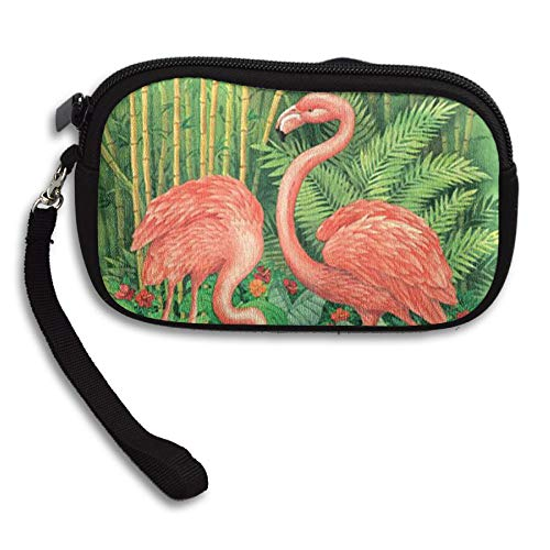 WCVRUT Unisex Clutch Wallet For Woman Ladies -Pink Flamingos Long Purse Bag Men Gentlemen by WCVRUT
