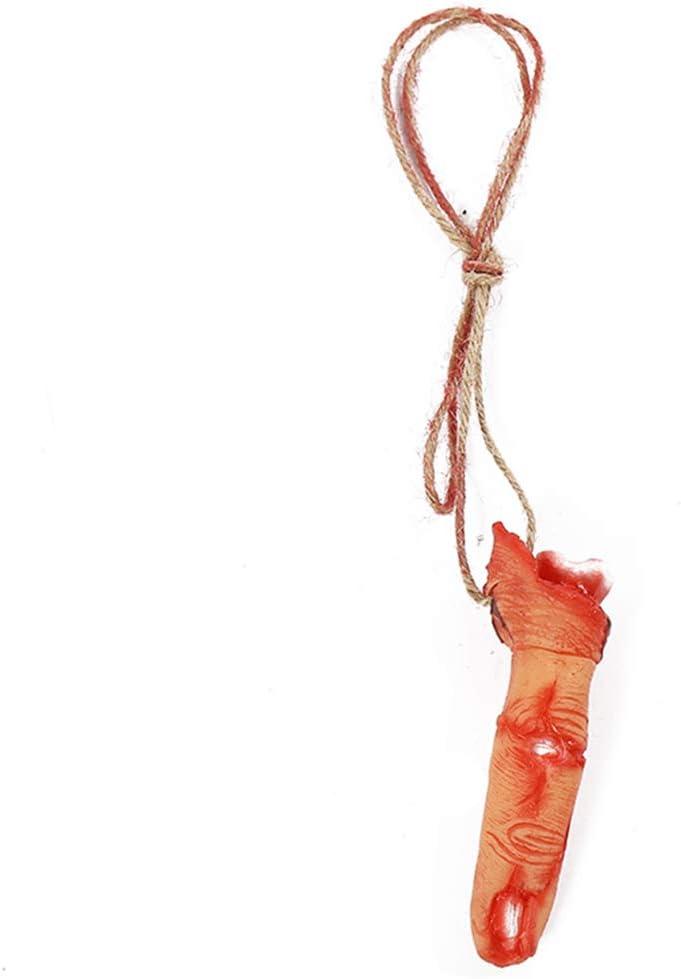 LbojailiAi Realista Dedos Rotos Collar Colgante Accesorios De Broma Decoraciones De Halloween De Miedo Dedo Roto de Hierro