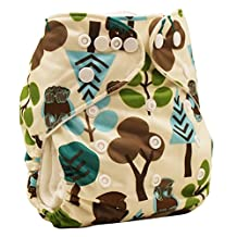 Happy Cherry Baby One Size Cloth Diaper Cover Snap for Prefolds, Trees