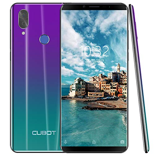 affordable 4G Unlocked Smartphone, CUBOT X19 Android 9.0 Phones Unlocked with 5.93 inch FHD Display, 4GB RAM+64GB ROM, 4000mAh Battery,16MP Camera, Fingerprint Sensor,Face ID-Twilight