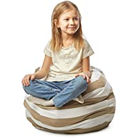 Stuffed Animal Storage Bean Bag Chair by Mummy`s Aide – Kids Storage Organizer Bean Bag & Chair - Fill with Stuffed Toys, Towels, Blankets & Pillows, Use for Cleaning up the Room, Swaddles or Seating