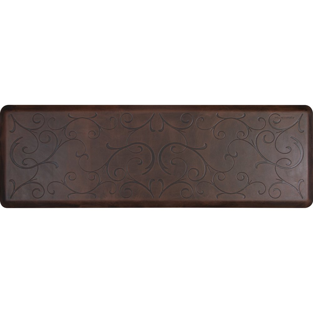WellnessMats Bella Motif Anti-Fatigue Mat, Antique Dark, 72'' by 24''