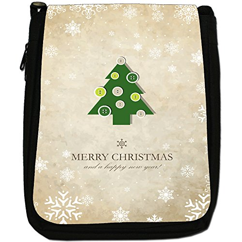 Tree Black Button Medium Decorations amp; Year Bag Christmas Canvas Wishes Size Xmas New Shoulder Xq7p6xPw