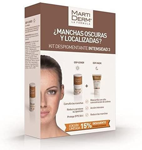 Martiderm Kit Despigmentante DSP-Cover Stick SPF50+ + DSP-Mascarilla 30ml