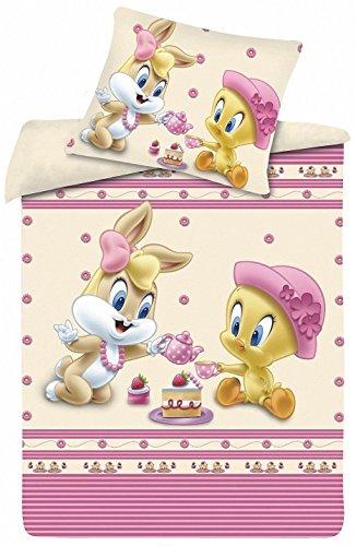 Kinderbettwäsche Garnitur Disney (Teeparty), 40 x 60 cm, Bettbezug 100 x 135 cm