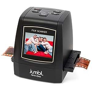 Jumbl 22MP All-In-1 Film & Slide Scanner w/Speed-Load Adapters for 35mm Negative & Slides, 110, 126, Super 8 Films