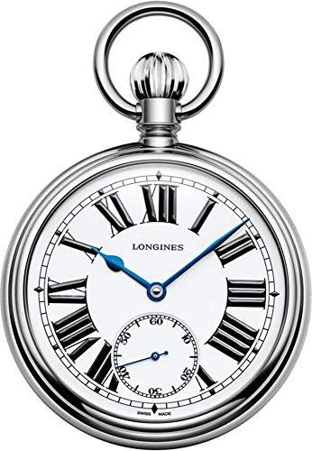Longines Heritage Railroad Stainless Steel Men's Pocket Watch L7.039.4.21.2