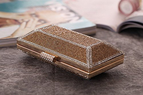 Ladies KERVINFENDRIYUN Gold Purse Bag Silver Handbag Bag Bag Evening Dress Diamond Craft Clutch Banquet Color 1fgrdqfw