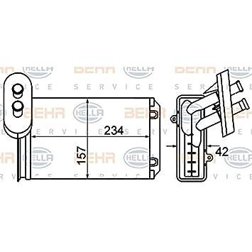 BEHR HELLA SERVICE 8FH 351 001-611 Radiador de calefacción: Amazon.es: Coche y moto