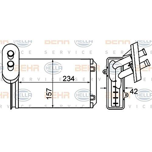 BEHR HELLA SERVICE 8FH 351 001-611  Radiador de calefacció n Hella KGaA Hueck & Co.