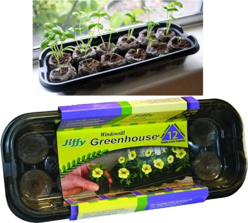 Amazon.com : Mr. Stacky Family Gardening Stacking Planter Kit   Jiffy  Windowsill Greenhouse Seed Starter   12 Coco Peat Pellets : Hanging  Planters : Garden ...