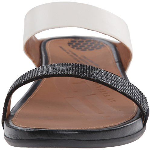 Women's Banda Dress Micro Sandal Slide Fitflop Crystal Black White 7nqwfWnd