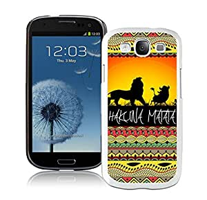 Popular Samsung Galaxy S3 I9300 Case ,Unique And Lovely Designed With Hakuna Matata on Sunset Lion King White Samsung Galaxy S3 I9300 High Quality Cover