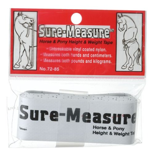 Tough-1 Sure Measure Horse and Pony Height and Weight Tape 12 Pack